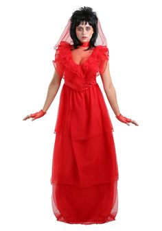 Red Gothic Women's Wedding Dress