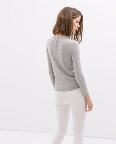 ZARA - SALE - SWEATER WITH ZIP AT THE BACK