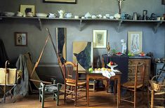 Paul Cezanne's studio - completely splatterfree - reproduction?