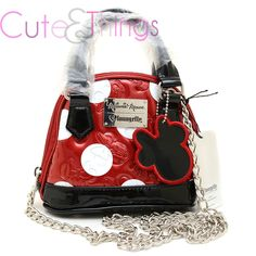 Disney Mickey Minnie Mouse Red Embossed Micro Dome Crossbody Purse Bag Loungefly