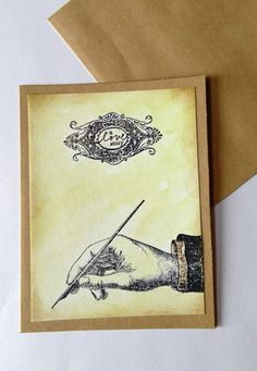 Valentine's Day card A Love Story Writing Distress by CLMEmporium