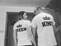 Koszulki dla pary King Queen www.jakamama.pl