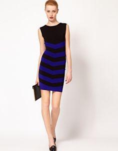 Ted Baker Stripe Bodycon Dress