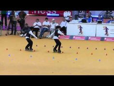 one of the most impossible things I've seen in a while! world freestyle skating championship 2011 pair slalom #1