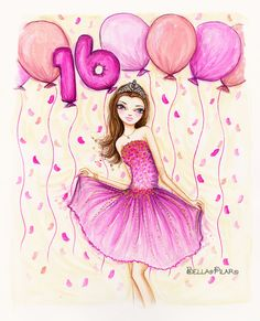 Bellapilarstudio Happy Birthday Sweet 16 16th Wishes Sister
