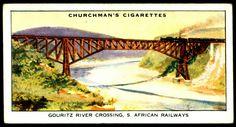 "https://flic.kr/p/kZxjsR | Cigarette Card - Gouritz River Crossing | Churchman's Cigarettes ""Empire Railways"" (series of 50 issued in 1931) #2 Gouritz River Crossing, South African Railways"