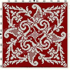 ru / Фото - Le Filet Ancien au P oint de Reprise VII - gabbach Cross Stitch Pillow, Cross Stitch Borders, Cross Stitch Designs, Cross Stitching, Cross Stitch Embroidery, Cross Stitch Patterns, Crochet Cross, Crochet Chart, Embroidery Patterns Free