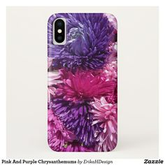 Pink And Purple Chrysanthemums iPhone X Case