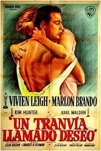 "Un tranvía llamado deseo ""A Streetcar Named Desire"" de Elia Kazan - Classic Movie Posters, Original Movie Posters, Classic Movies, Vivien Leigh, Cinema Posters, Film Posters, Old Movies, Vintage Movies, Film Music Composers"