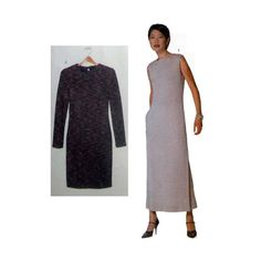 Very Easy Vogue Elements Pullover Dress Sewing Pattern Misses 6, 8, 10, 12, 14, 16, 18, 20, 22 Size Uncut Vogue 9744
