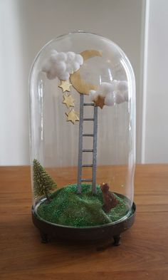 Ladder to the moon globe glass by Moon & Wood