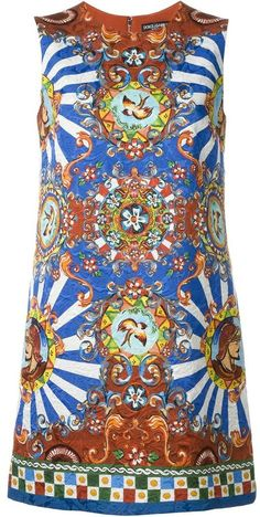 Dolce & Gabbana Carretto Siciliano print shift dress