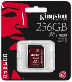 Kingston SDXC UHS-I U3 (SDA3) 256GB - Specificaties - Tweakers