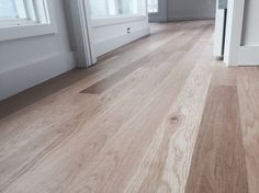Locally milled white oak and finished with Bona BonaSeal and Bona Naturale finish Floor Stain Colors, Paint Colors, Oak Floor Stains, Red Oak Floors, Brown House, Oak Hardwood Flooring, Mid Century House, Cozy House, Interior Decorating