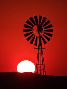 Valentine, Nebraska.  Sandhills sunset