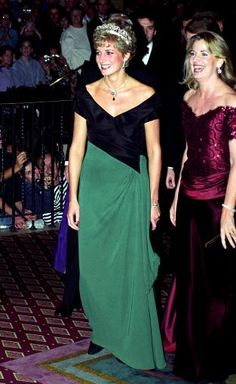 October, 1991: HRH Diana, Princess of Wales attends a gala dinner at the Royal York Hotel in Toronto during an official visit to Canada.