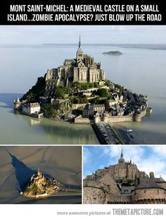 Survival from the Zombie Apocalypse!!  A Medieval Castle on a small island…