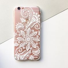 Winter Henna Clear TPU Case Cover