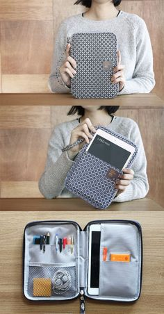 What is this? A super cute zippered pouch that's SUPER functional too? Pure ge...