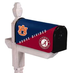 Evergreen Alabama and Auburn House Divided Magnetic Mailbox Cover