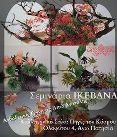 Πηγές του κόσμου art & craft: Σεμινάριο ΙΚΕΒΑΝΑ - Ιαπωνική Τέχνη Ανθοδετικής