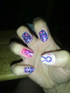 Epilepsy month nails second go round right hand