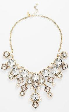 """This sparkly Kate Spade necklace is called """"palace gems"""" and has matching earrings. Kate Spade Necklace, Jewelry Box, Jewelry Accessories, Fashion Accessories, Fashion Jewelry, Prom Jewelry, Bridal Jewelry, Jewelry Mirror, Choker"""