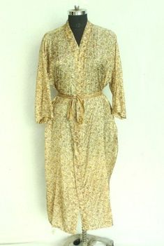 Silk Fabric, Indian Fabric, Kimono Beach Cover Up, Cotton Kimono, Cotton Bag, Kimono Jacket, Night Dress For Women, Gown Photos, Vintage Kimono