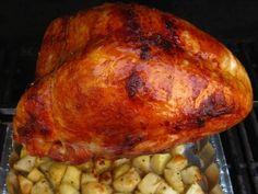 Cajun Turkey, Bbq Turkey, Grilled Turkey, Smoked Turkey, Roasted Turkey, Dad Cooks Dinner, Rotisserie Oven, Roast Turkey Breast, Rotisserie Turkey Breast Recipe