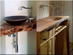Fürdőszobák -  rusztikus design