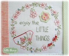 Looking for your next project? You're going to love Little Things - stitchery by…
