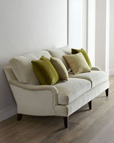 """""""Tiahna"""" Sofa by Lee Industries at Horchow.# horchow neutral sofa with two cushions . I like this look."""