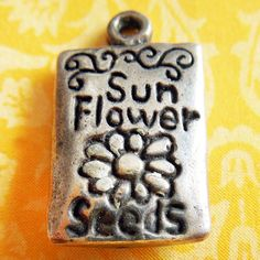Vintage Seed Packet Sterling Charm For A Garden by AGenuineFind