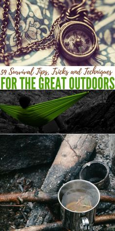 59 Survival Tips, Tricks and Techniques for the Great Outdoors - The reliance on technology in today's modern world has left many who travel out into the wilderness for hiking and camping adventures vulnerable if they should lose their equipment.