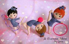Artistic Gymnastics Felt Dolls (Picture Only) Felt Crafts Dolls, Felt Ornaments, Christmas Ornaments, Felt Patterns, Pretty Dolls, Felt Toys, Felt Art, Paper Dolls, Wool Felt