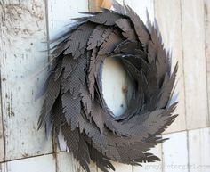 DIY Paper Feather Wreath Tutorial