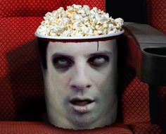 Great design for a horror convention! AHHHH! Zombie Head Popcorn Bucket via @Incredible Things
