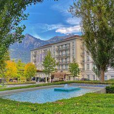 A Classy, Majestic Resort in the Swiss Alps — Grand Resort Bad Ragaz – SWITZERLAND Blown Away, Swiss Alps, Perfect Place, Switzerland, Classy, Wellness, Vacation, Mansions, House Styles