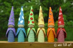 TUTORIAL!!!  Free DIY directions to make your own gnomes!  These are made using the largest peg people it seems.  The LINKS to each gnome is at almost the BOTTOM of the blog page, past the adorable photo's of the baby playing with them :).  Just look for the names of each gnome and click :)