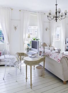Sheer curtains that could go with the internal shutters for privacy when you still want light.