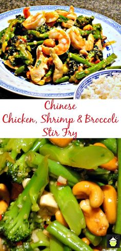 Chinese Spicy Chicken, Shrimp and Broccoli Stir Fry | Lovefoodies.com