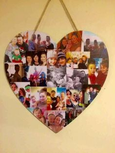 This listing is for one 40cm Heart Shaped Photo Collage in colour. A smaller 20cm version is also available in my shop. My collages are the perfect way to display your favourite photos and also make the perfect photo gift for friends and family. The 40cm heart holds around 20 photos. Please send your photos to amyshandmadeheaven@hotmail.com. ❤️ Size Height - 40cm ❤️ Dispatch UK Orders Your order will be processed & shipped within 15 working days from the date of purchase/pay...