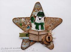 новогодняя гирлянда-holiday-garland-diy-ornaments-scrapberrys-polar-bear-Olesya-Kharkova