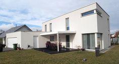 Bauhaus Flachdachhaus Bilder Referenzen NURDA Hausbau Hannover
