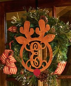 Another great find on #zulily! Unfinished Reindeer Initial Décor #zulilyfinds