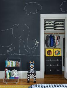 paredes dormitorios infantiles con pizarra