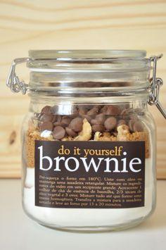 Mistura de Brownie para fazer em casa. Ótimo para dar de presente!