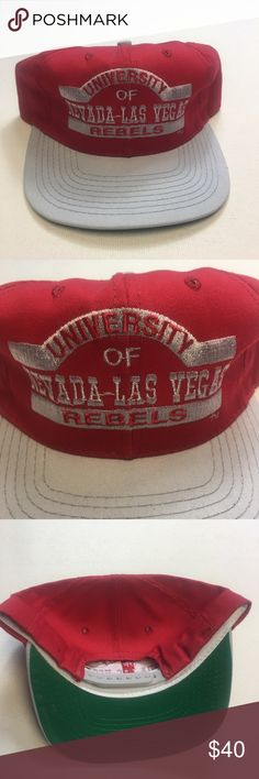 fb0fc933cd9 Vintage UNLV Runnin Rebel Snapback Hat NWOT Vintage UNLV University of  Nevada- Las Vegas Runnin