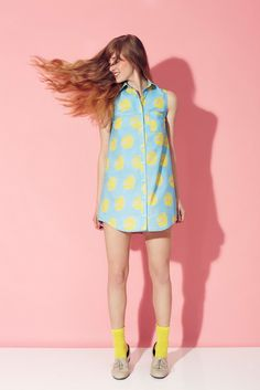 hound - Image of Alder Shirtdress : Citron