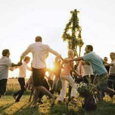 The majstång is a tall pole that is completely covered with flowers and leaves, most often birch leaves and twigs. Many families and friends gather to  raise the majstång and dance around it, some in their traditional finery. Midsummer Eve is a night filled with magic and mystery for the Swedes, a time when ancient traditions still live.